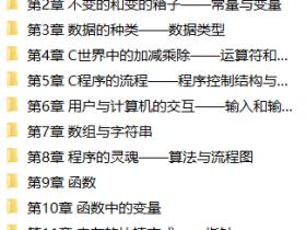 C语言从入门到精通视频教程下载