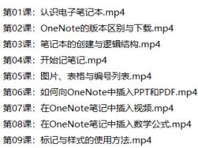 OneNote 2016中文版基础自学视频教程下载